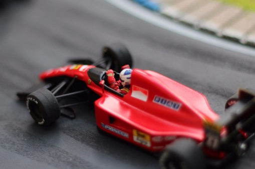 Alain Prost, Ferrari 643. Tameo Kit & Denizen figure, built by Bad Wolf Miniatures