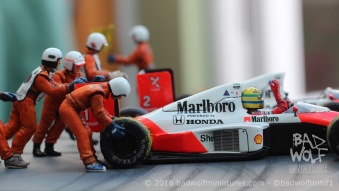 Suzuka 1989 Diorama - Kits by Tameo, figures by Denizen Miniatures - Built by Bad Wolf Miniatures